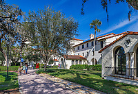Picturesque Rollins College campus, Winter Park, Florida, USA.