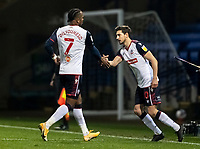Bolton Wanderers' Shaun Miller (right) comes on to replace Nathan Delfouneso <br /> <br /> Photographer Andrew Kearns/CameraSport<br /> <br /> The EFL Sky Bet League Two - Bolton Wanderers v Mansfield Town - Tuesday 3rd November 2020 - University of Bolton Stadium - Bolton<br /> <br /> World Copyright © 2020 CameraSport. All rights reserved. 43 Linden Ave. Countesthorpe. Leicester. England. LE8 5PG - Tel: +44 (0) 116 277 4147 - admin@camerasport.com - www.camerasport.com