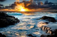 Waves off coast in Puna District Hawaii, The Big island