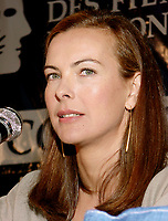 Montreal, 1999-08-30.Carole Bouquet, press conference at Montreal World Film Festival<br /> <br /> Carole Bouquet (born 18 August 1957) is a French actress and fashion model. Bouquet was born in Neuilly-sur-Seine, France.<br /> <br /> She is best known internationally as Bond girl Melina Havelock in the 1981 movie For Your Eyes Only, although she featured in a number of mainstream European films throughout the 1980s and continued to do so up until 2005 in France.<br /> <br /> She is also recognized for her work in Luis Buñuel's surrealist classic That Obscure Object of Desire (1977), and in the internationally successful film Too Beautiful For You (1989).<br /> <br /> Bouquet was a model for Chanel in the 1990s. She is the widow of producer Jean-Pierre Rassam with whom she had a son, Dimitri Rassam. From 1997 to 2005, she dated actor Gerard Depardieu, with whom she had worked several times. Bouquet was engaged to him from 2003 to 2005.