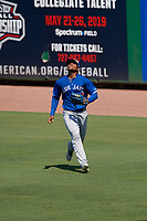 Toronto Blue Jays right fielder Mc Gregory Contreras (22) during an Instructional League game against the Philadelphia Phillies on September 17, 2019 at Spectrum Field in Clearwater, Florida.  (Mike Janes/Four Seam Images)