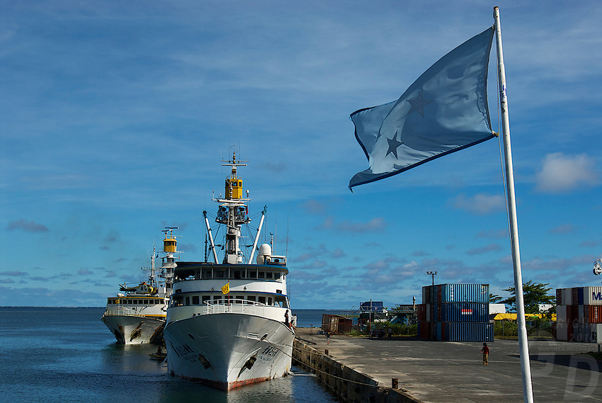 The Harbor of Pohnpei, Micronesia, South Pacific
