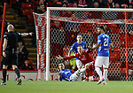 06.02.2019:Aberdeen v Rangers: James Tavernier concedes a penalty kick right at the start of the second half