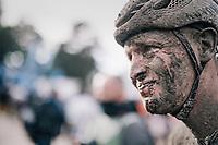 Tim Merlier's (BEL/Alpecin-Fenix) post-race face<br /> <br /> 118th Paris-Roubaix 2021 (1.UWT)<br /> One day race from Compiègne to Roubaix (FRA) (257.7km)<br /> <br /> ©kramon
