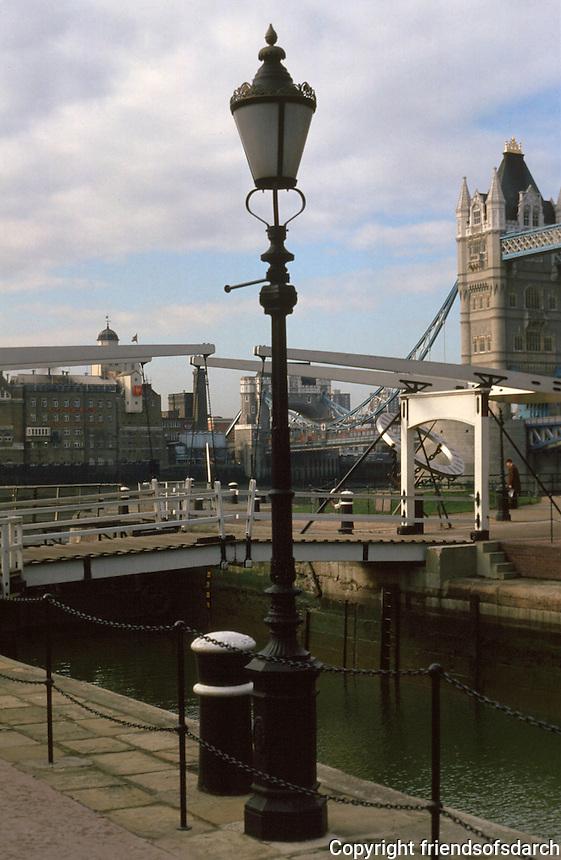 London:  Entrance Lock--St. Katherine's Yacht Haven.  Photo 2005.