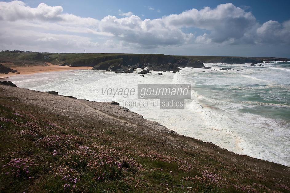 Europe/France/Bretagne/56/Morbihan/ Belle-Ile-en-Mer/Donnant: Plage de Port Donnant
