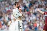 Real Madrid Dani Carvajal during UEFA Champions League match between Real Madrid and A.S.Roma at Santiago Bernabeu Stadium in Madrid, Spain. September 19, 2018. (ALTERPHOTOS/Borja B.Hojas)