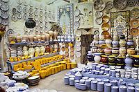 Ceramics, Nabeul, Tunisia.  Gastli Pottery Sales Shop.