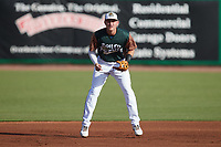 Charleston Boiled Peanuts third baseman Curtis Mead (16) on defense against the Augusta GreenJackets at Joseph P. Riley, Jr. Park on June 26, 2021 in Charleston, South Carolina. (Brian Westerholt/Four Seam Images)
