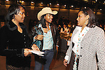 From left: Genora Boykins, Kae Shakir and Angela Myres at the 17th Annual Black Heritage Western Gala at the Reliant Center Saturday Jan. 30,2010.(Dave Rossman Photo)