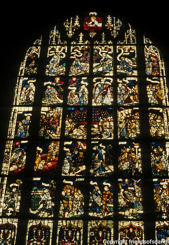 Nuremberg: St. Lorenz-Kirche. Stained glass window. 15th century. Photo '87.
