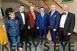 Liam Carroll, Niall O'Hanlon, Thomas Carroll, Cormac O'Connor, Maurice O'Hanlon and James Meehan attending the Causeway Community Action Group  Oskars fundraiser  in the Ballyroe Heights Hotel on Friday.