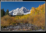 Late-September is a good bet to see autumn Aspen trees and the Maroon Bells. <br /> John offers private, photo tours of Colorado's mountains. Click the CONTACT button above for inquiries.