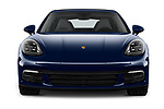 Car photography straight front view of a 2018 Porsche Panamera 4S 5 Door Hatchback