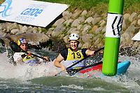 5th September 2021; Parc Olimpic del Segre, La Seu D'Urgell ICF Slalom World Cup, Women's  Extreme Slalom Semi-Finals;  Trompeterc (GER) and Jessica Fox (AUS)