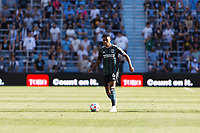 ST PAUL, MN - AUGUST 14: Rayan Raveloson #6 of the Los Angeles Galaxy during a game between Los Angeles Galaxy and Minnesota United FC at Allianz Field on August 14, 2021 in St Paul, Minnesota.