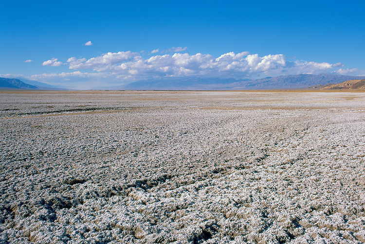 Death Valley National Park, California, CA, USA - Salt Flats at Badwater Basin - Lowest Elevation in North America (282 ft / 86m below sea level)