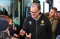 Leeds United manager Marcelo Bielsa arrives at Elland Road<br /> <br /> Photographer Alex Dodd/CameraSport<br /> <br /> The EFL Sky Bet Championship - Leeds United v Norwich City - Saturday 2nd February 2019 - Elland Road - Leeds<br /> <br /> World Copyright © 2019 CameraSport. All rights reserved. 43 Linden Ave. Countesthorpe. Leicester. England. LE8 5PG - Tel: +44 (0) 116 277 4147 - admin@camerasport.com - www.camerasport.com