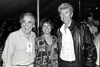 Montreal (Qc) CANADA - July 1992 File Photo - Juste Pour Rire Festival - <br /> - Jean Besre (L), Gilles Duceppe (R) and his wife (M)