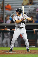 Tri-City ValleyCats Carmen Benedetti (43) at bat during a game against the Auburn Doubledays on August 25, 2016 at Falcon Park in Auburn, New York.  Tri-City defeated Auburn 4-3.  (Mike Janes/Four Seam Images)