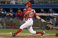 Batavia Muckdogs shortstop Garrett Wittels #21 during a game against the Auburn Doubledays at Dwyer Stadium on June 18, 2012 in Batavia, New York.  Auburn defeated Batavia 6-5.  (Mike Janes/Four Seam Images)