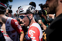 Caleb Ewan (AUS/Lotto-Soudal) is overjoyed as he wins the bunchsprint into Nîmes, his 2nd stage win in his first Tour<br /> <br /> Stage 16: Nîmes to Nîmes(177km)<br /> 106th Tour de France 2019 (2.UWT)<br /> <br /> ©kramon