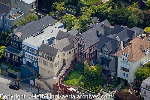 aerial photograph residential neighborhood San Francisco California