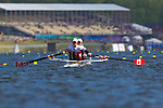 Rowing, Rowing Canada, woman's lightweight double, Lindsay Jennerich, Tracy Cameron, stroke, 2010 FISA World Rowing Championships, Lake Karapiro, Hamilton, New Zealand, heat, 31 October,