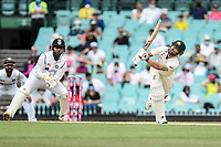 8th January 2021; Sydney Cricket Ground, Sydney, New South Wales, Australia; International Test Cricket, Third Test Day Two, Australia versus India; Matthew Wade of Australia clips a high ball through the covers