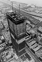1966 FILE PHOTO - ARCHIVES -<br /> Construction Toronto Dominion Centre<br /> <br /> PHOTO : Boris Spremo - Toronto Star Archives - AQP