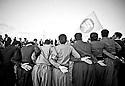 Iraq 2010 .Kurds dancing for Nowruz in Penjwin with the flag of KDP  .Irak 2010 .Kurdes dansant pour la fete de Nowruz  a Penjwin