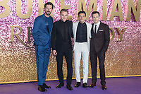"""Gwilym Lee, Ben Hardy, Rami Malek and Joe Mazzello<br /> arriving for the """"Bohemian Rhapsody"""" World premiere at Wembley Arena, London<br /> <br /> ©Ash Knotek  D3455  23/10/2018"""