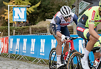 crash victim Jasper Stuyven (BEL/Trek-Segafredo) up the Paterberg<br /> <br /> 104th Ronde van Vlaanderen 2020 (1.UWT)<br /> 1 day race from Antwerpen to Oudenaarde (BEL/243km) <br /> <br /> ©kramon