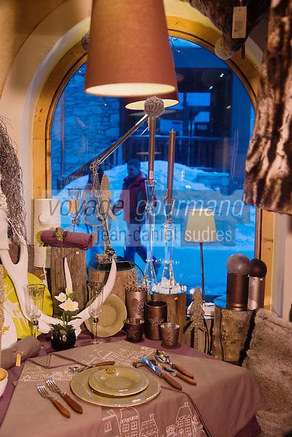 Europe/France/73/Savoie/Val d'Isère:  Le Chalet d'Isabelle,  boutique de décoration d'Isabel Usannaz,