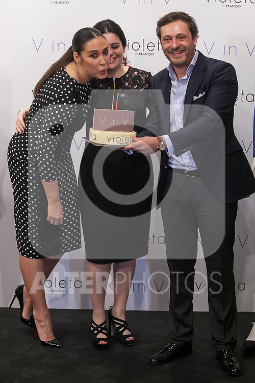 Vicky Martin Berrocal receives a birthday surprise during V in V Violeta by Mango presentation in Madrid, Spain. March 11, 2015. (ALTERPHOTOS/Victor Blanco)