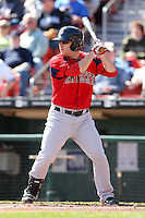 April 14, 2010:  Second Baseman Tug Hulett of the Pawtucket Red Sox at bat during a game at Coca-Cola Field in Buffalo, New York.  Pawtucket is the Triple-A International League affiliate of the Boston Red Sox.  Photo By Mike Janes/Four Seam Images