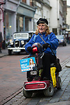 © Joel Goodman - 07973 332324 . 20/11/2014 . Kent , UK . A supporter of Conservative candidate Kelly Tolhurst on High Street Rochester . The Rochester and Strood by-election campaign following the defection of sitting MP Mark Reckless from Conservative to UKIP . Photo credit : Joel Goodman