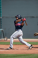 Cleveland Indians third baseman Jonathan Laureano (8) during a Minor League Spring Training game against the San Francisco Giants at the San Francisco Giants Training Complex on March 14, 2018 in Scottsdale, Arizona. (Zachary Lucy/Four Seam Images)