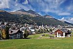 Schweiz, Graubuenden, Davos: international bekannter Luftkurort   Switzerland, Graubuenden, Davos: international climatic spa