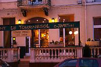 The restaurant Le Tournesol (The Sunflower) in Tournon. Tournon-sur-Rhone, Ardeche Ardèche, France, Europe