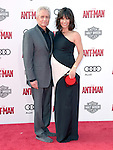 """Michael Douglas and Evangeline Lilly attends The Premiere Of Marvel's """"Ant-Man"""" held at The Dolby Theatre  in Hollywood, California on June 29,2015                                                                               © 2015 Hollywood Press Agency"""