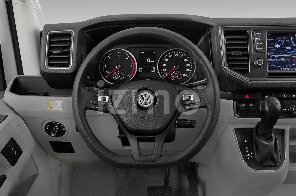 Car pictures of steering wheel view of a 2020 Volkswagen Grand-California 600 4 Door Refrigerated Van Steering Wheel