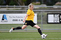 Molly Woodhead of Capital during the Handa Women's Premiership - Capital Football v Southern United at Petone Memorial Park, Wellington on Saturday 7 November 2020.<br /> Copyright photo: Masanori Udagawa /  www.photosport.nz