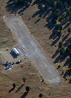 aerial photograph the Clearlake Modelers runway in Kelseyville, Lake County, California.  Clearlake Modelers are a group of enthusiasts that enjoy the building and flying of radio controlled model aircraft.  More information about the club is available at clearlakemodelers.net.
