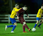 Eoin Hayes of  Clare in action against Noel Varley of Galway during their Oscar Traynor game at Healy Park. Photograph by John Kelly.