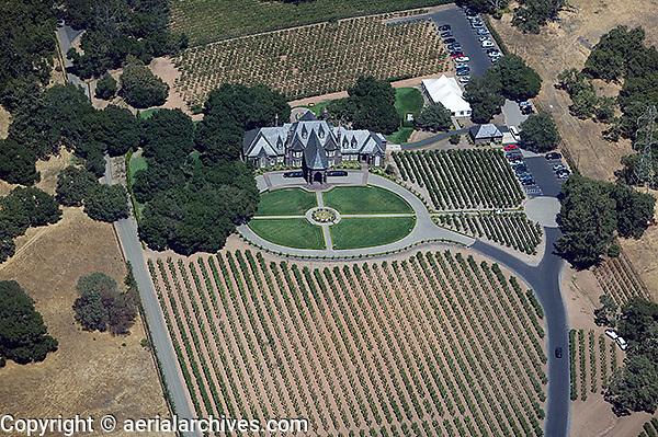 aerial photograph Ledson winery vineyards Mayacamas Mountains Sonoma Valley Sonoma County, California