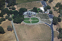 aerial photograph Ledson winery vineyards Mayacamas Mountains Sonoma Valley Sonoma County, California
