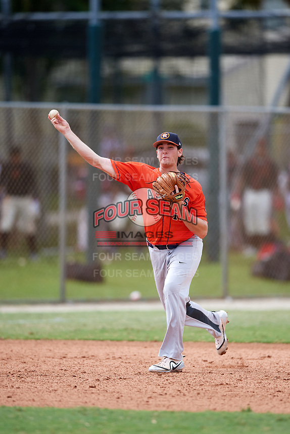 Triston Casas (19) while playing for Houston Astros Scout Team/Elite Squad based out of Pembroke Pines, Florida during the WWBA World Championship at the Roger Dean Complex on October 21, 2017 in Jupiter, Florida.  Triston Casas is a third baseman / first baseman from Pembroke Pines, Florida who attends American Heritage High School.  (Mike Janes/Four Seam Images)