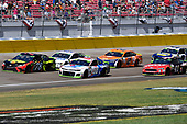 #78: Martin Truex Jr., Furniture Row Racing, Toyota Camry 5-hour ENERGY, #88: Alex Bowman, Hendrick Motorsports, Chevrolet Camaro Valvoline, #4: Kevin Harvick, Stewart-Haas Racing, Ford Fusion Mobil 1, #2: Brad Keselowski, Team Penske, Ford Fusion Autotrader, and #41: Kurt Busch, Stewart-Haas Racing, Ford Fusion Haas Automation
