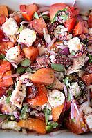 Close up of Greeck seafood salad